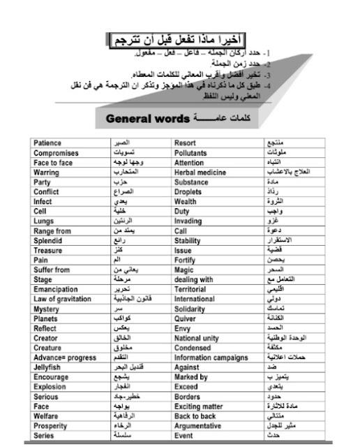 كيف تحل سؤال الترجمة وتحصل على درجته كاملة ،البرشامه في الترجمه للثانوية العامة