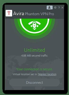 Avira Phantom VPN Pro 2.22.2.16398 Full Version (2019)
