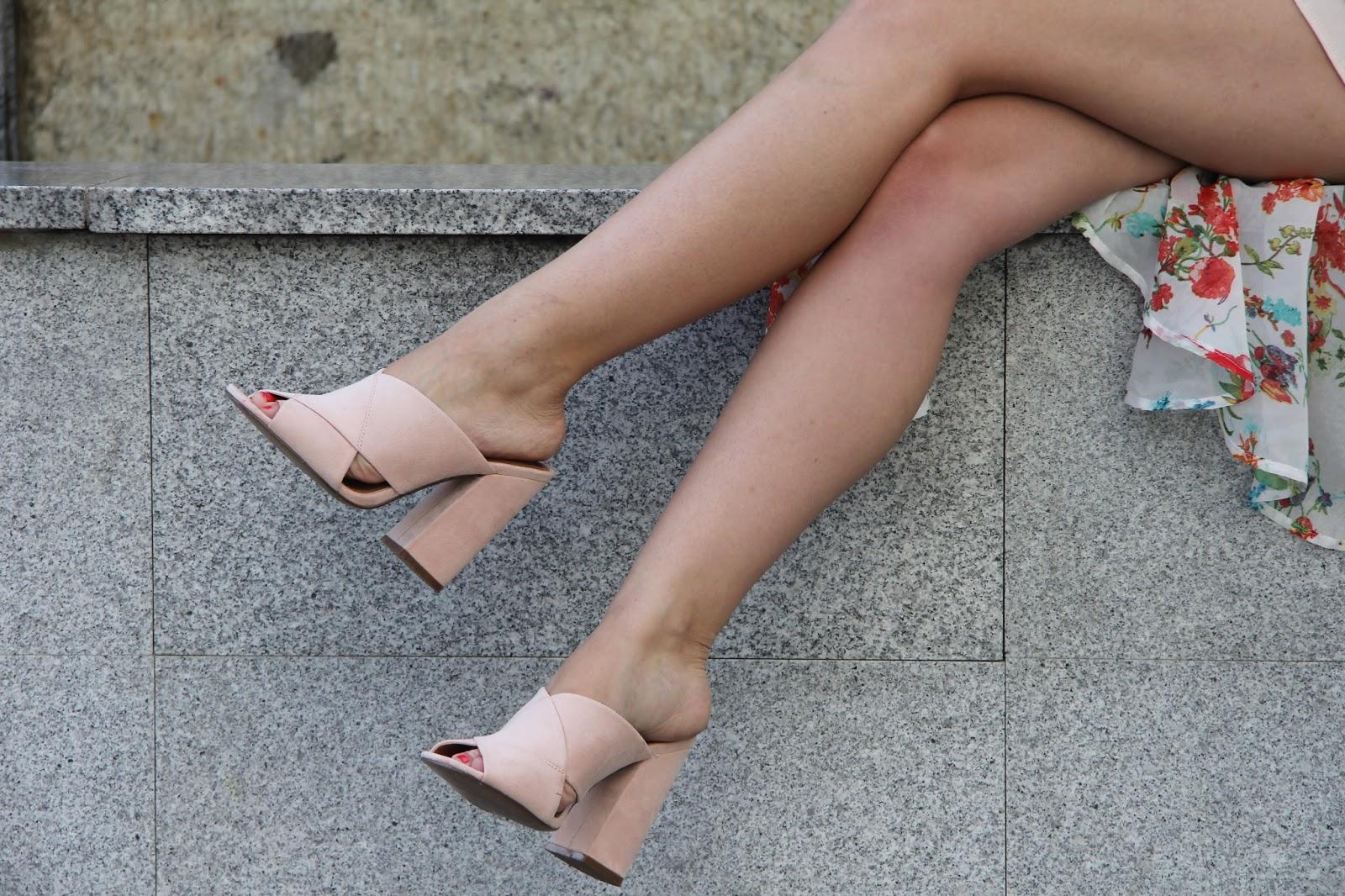 pink h&m mules