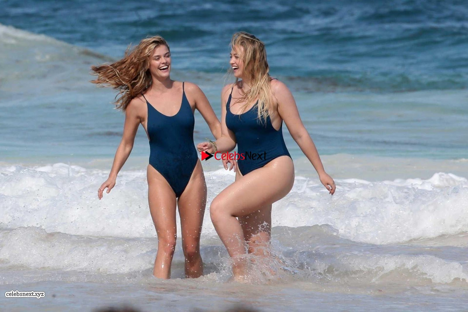 Iskra Lawrence and Nina Agdal in Sexy Swimsuit Wet Girls ~ SexyCelebs.in Exclusive