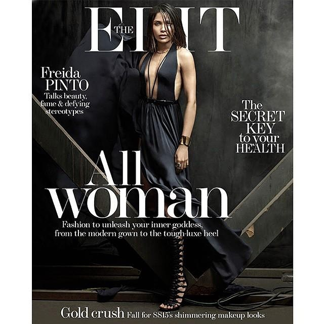 freida pinto on cover of edit magazine.