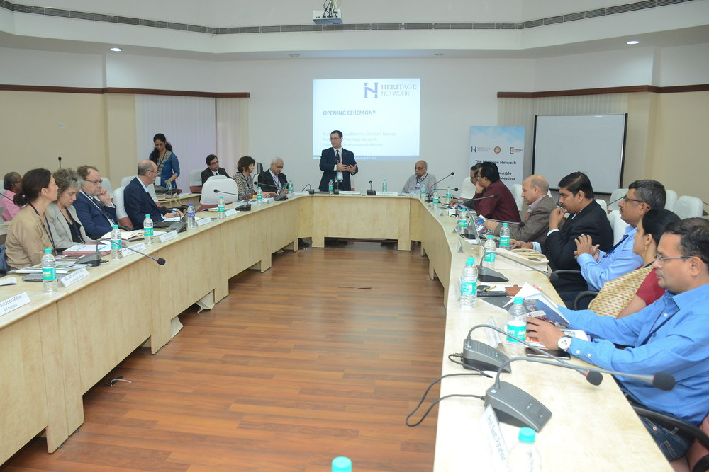 Prof Fouad Bennis, President of Heritage Network & Director for IR, Ecole Centrale de Nantes addressing Day 1 of the General Assembly meeting of Heritage Network at IITM