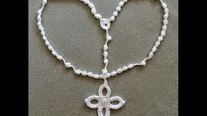 Cómo hacer un rosario para comunión tejido al crochet - Video