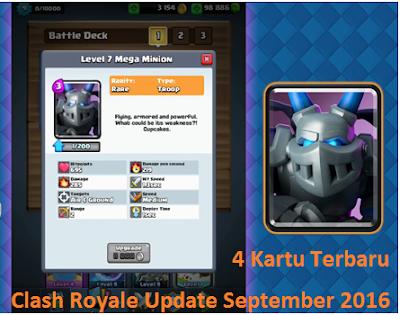 apa saja 4 kartu terbaru di Clash Royale update bulan September