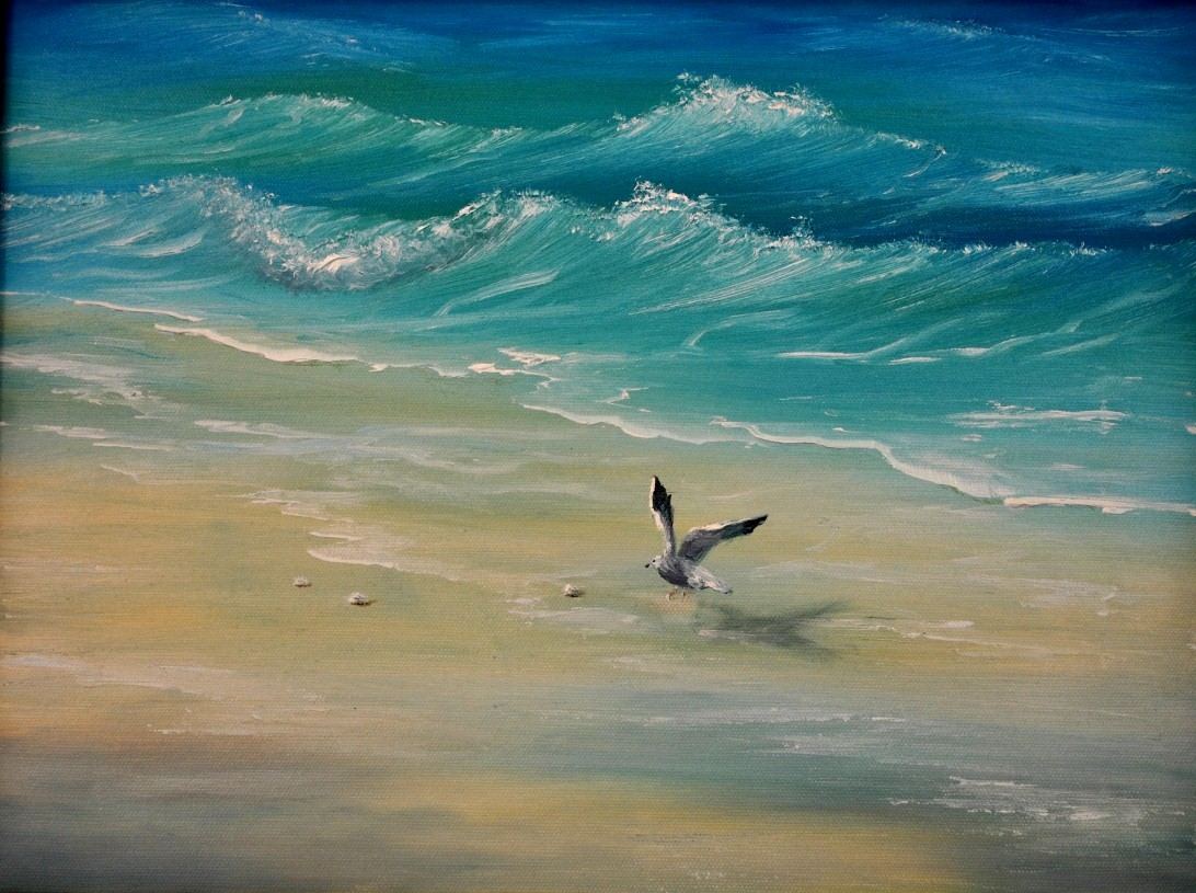 Well I Forgot To Take Photos Of The Last Cl As Usual So Here A Photo Next Painting We Re Doing In This Is Bob Ross Beach With Sea