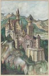 Munich and Co.: Neuschwanstein, une aquarelle d´ Adolf Hitler