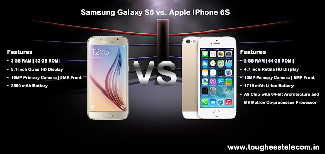 Samsung Galaxy S6 vs. Apple iPhone 6S