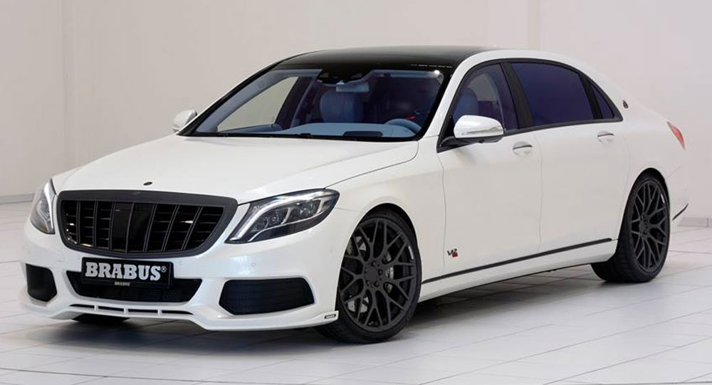 Brabus' Maybach Rocket 900 Gets White And Blue Treatment