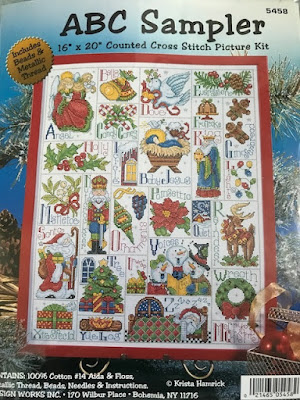 ABC Christmas cross stitch sampler
