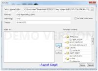 highlight firmware file - flashtool sony xperia