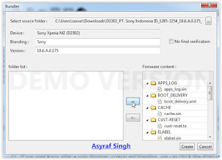 highlight firmware file - flashtool sony xperia