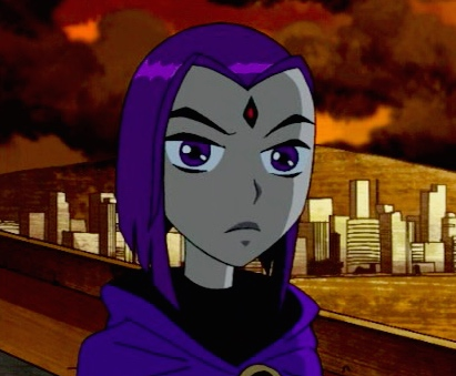 Raven Of The Teen Titans On The Roof