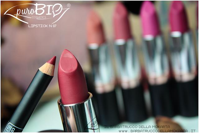 recensione, lipstick n 07 ,  rossetti purobio , lipstick, vegan makeup, bio makeup