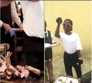 Ikorodu Boys Recreate The Moment Hushpuppi Was Fed With A Knife