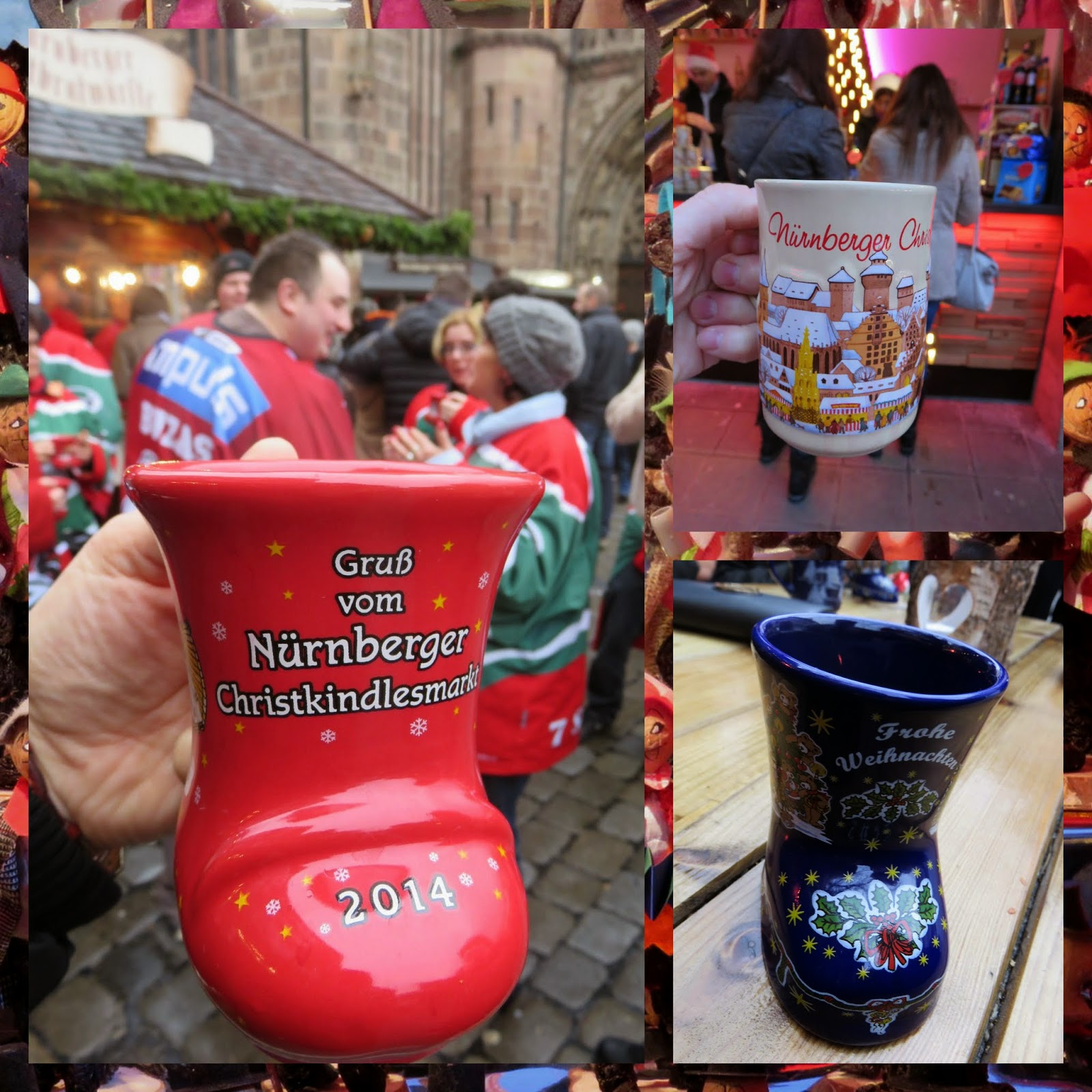 Nuremberg Christmas Market - Mugs of Gluehwein
