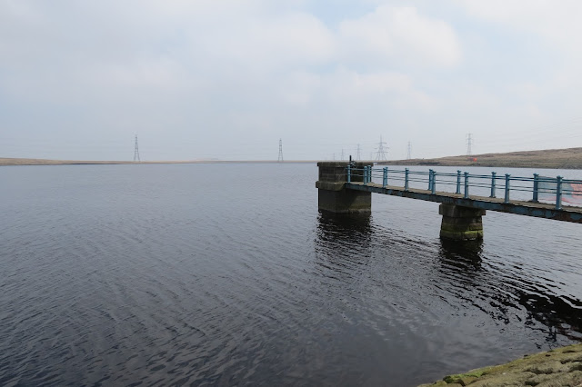 A view from the side of the jetty and reservoir.