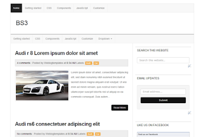 BootStrap 3 Blogger Template