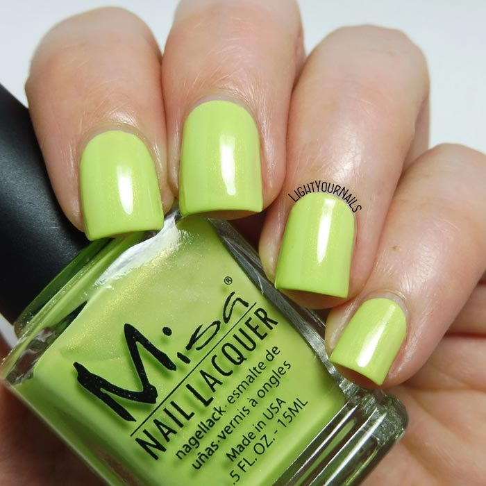 Smalto verde Misa Lime Love green nail polish #misa #nails #unghie #lightyournails