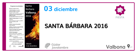 Santa Bárbara 2016 en Valbona