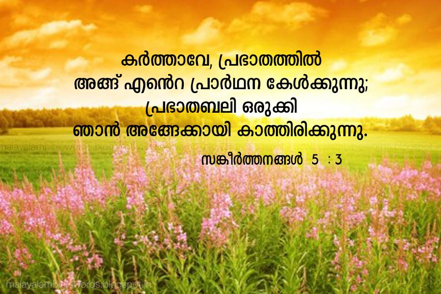 Malayalam Bible Words: malayalam bible verse of the day