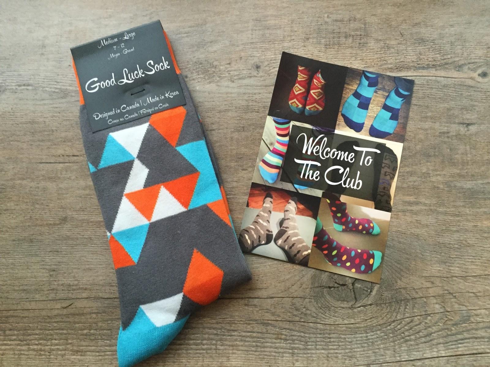 3679d6df1 Good Luck Sock Review - November 2015 - Canadian Sock Subscription
