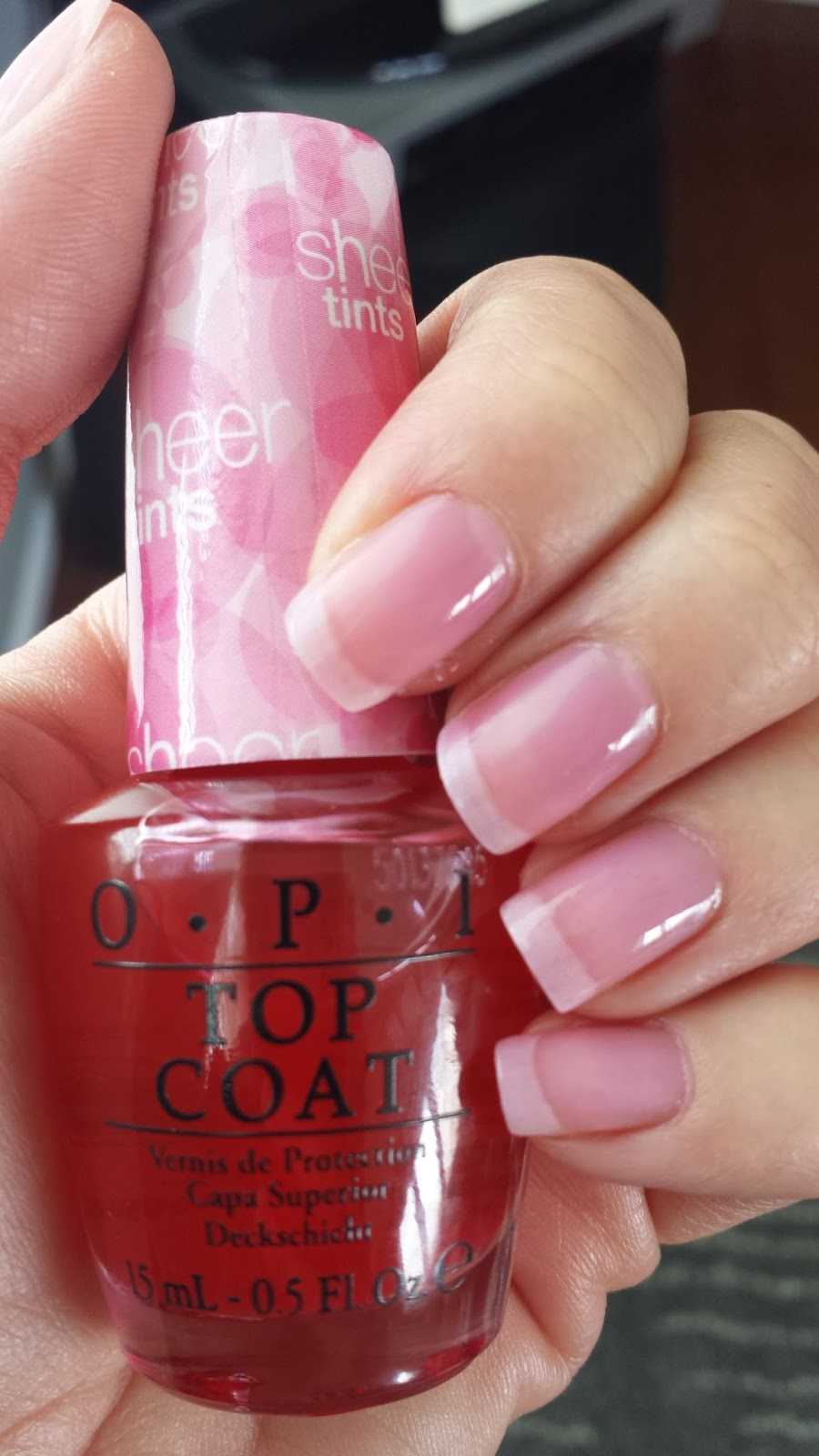 OPI Sheer Tint in Be Magentale with Me