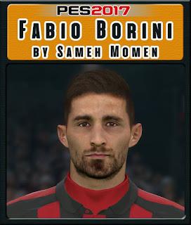 PES 2017 Faces Fabio Borini by Sameh Momen