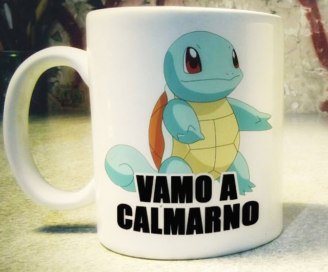 Squirtle Pokemon Magic Mug Taza Mágica Vamo a calmarno