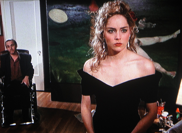 Angie (Sharon Stone) and Cole (Steve Railsback) in SCISSORS (1991)