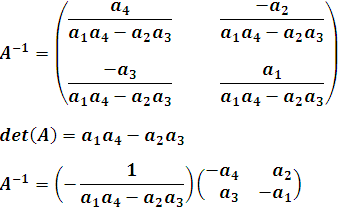 matriz inversa de A