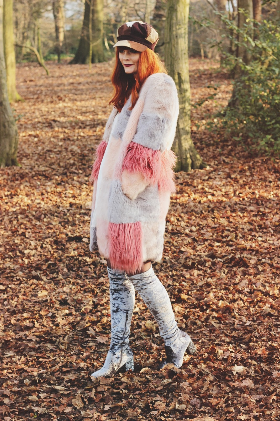 ASOS Faux Fur Pastel Coat Fashion Blogger Fox & Feather