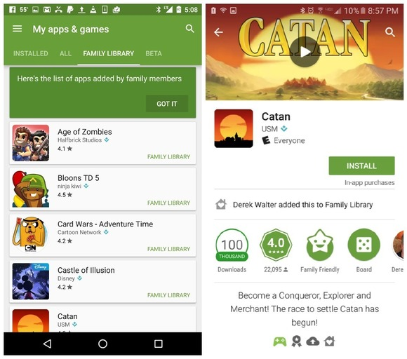 Google Play Family Library Let You Share Paid Apps & Games