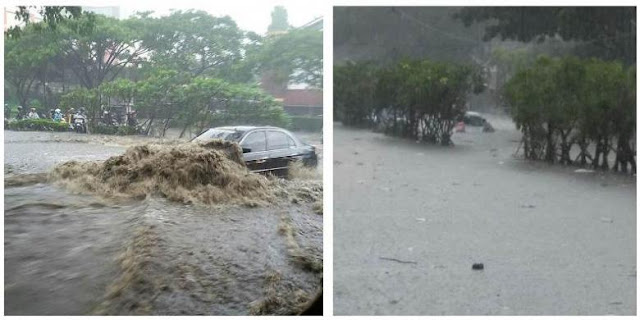 Hujan Deras Bejam-jam Akibatkan Banjir Bandang Jalan Pasteur Kota Bandung