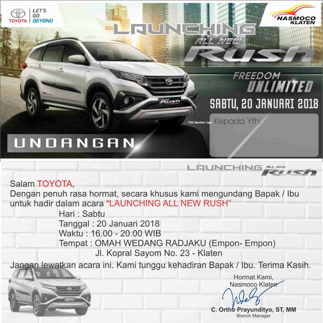 Launching All New Rush Nasmoco Klaten