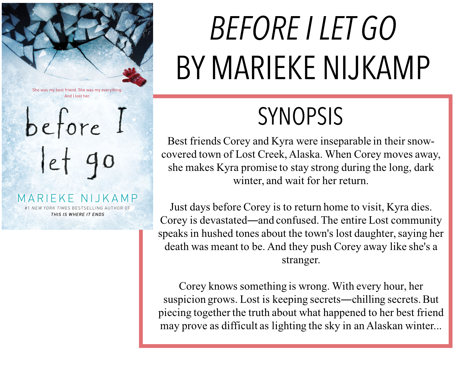 Ryley Reads: BEFORE I LET GO BY MARIEKE NIJKAMP - BOOK REVIEW