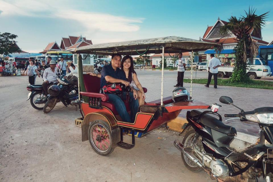 Motorcyle taxi or tuktuk in Cambodia