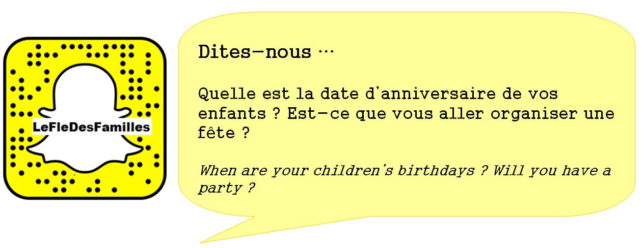 Le FLE des familles: La fête d'anniversaire: écrire une invitation