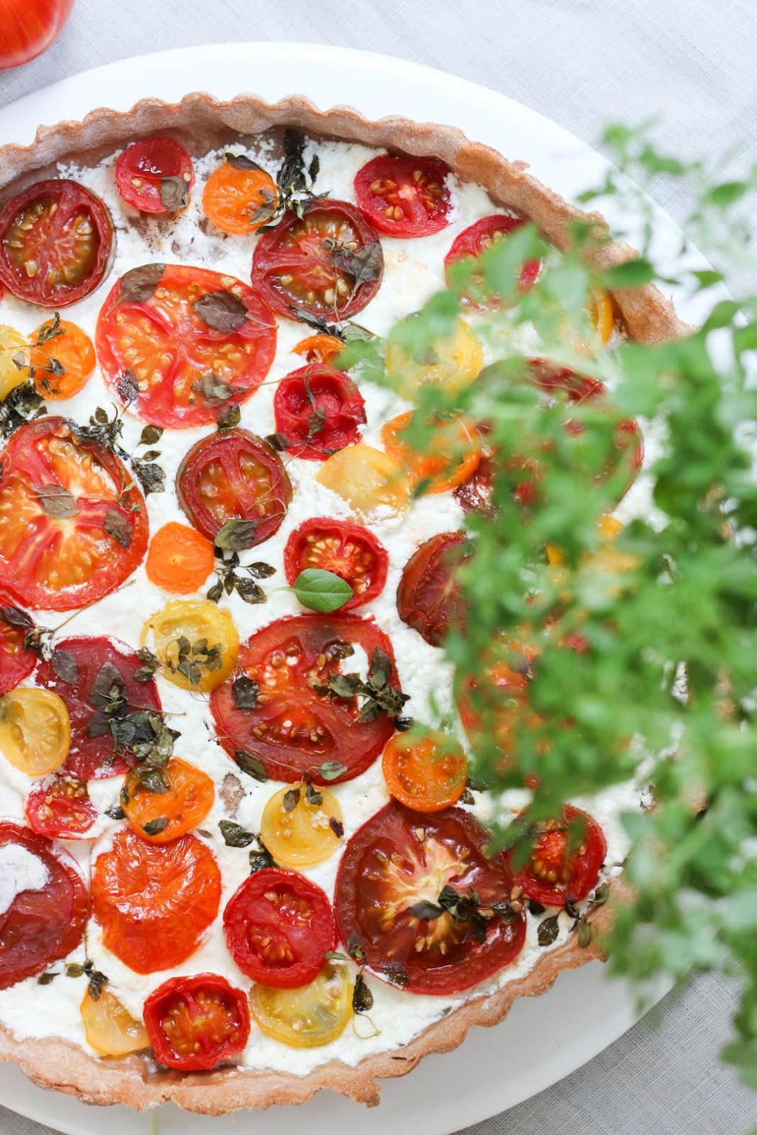 Tarte, Tomaten, Sommerküche, Fleurcoquet