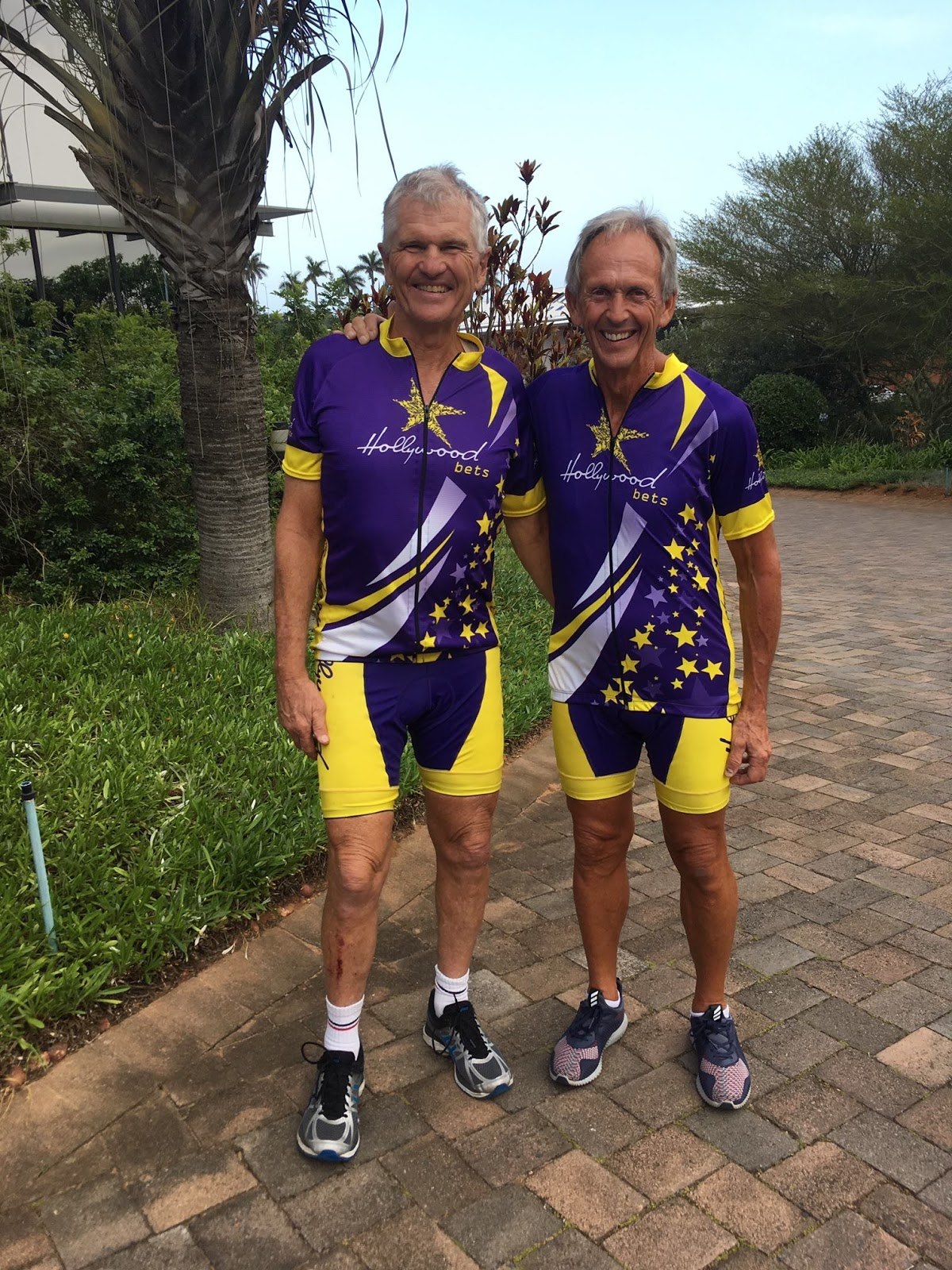 Graeme Wilson and Butch Webster - Dream Cycle Foundation - Hollywoodbets Cycling Kit