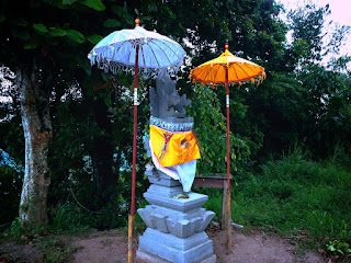 Small Balinese Shrine In The Park At Wanagiri Village, Buleleng, Bali, Indonesia