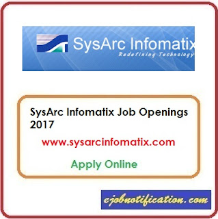 SysArc Infomatix hiring Freshers Software Engineer Trainee jobs in Chennai Apply Online