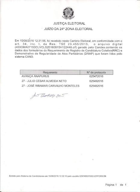 ANAPURUS: Oposição sem voto é desmentida no mesmo dia.