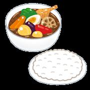 スープカレーのイラスト