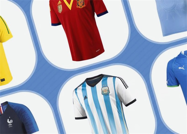 15 Nations & Almost 100 Kits - Football Kit Evolution In The Last ...