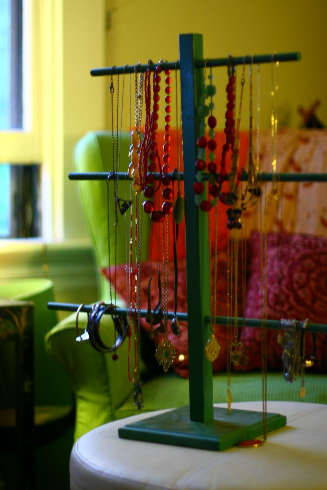Rare Bird DIY Thrift Store Jewelry Display