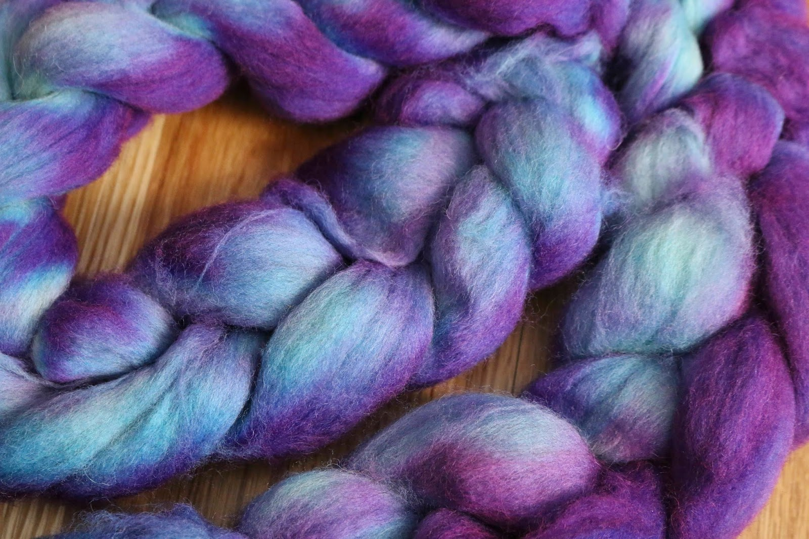 ChemKnits: Breaking Wilton\'s Violet Food Coloring on Crocheted Roving