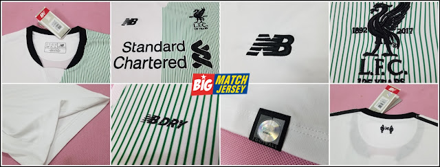 Detail Jersey Bola Grade Original Thailand Club Liverpool Away Terbaru Musim 2017-2018