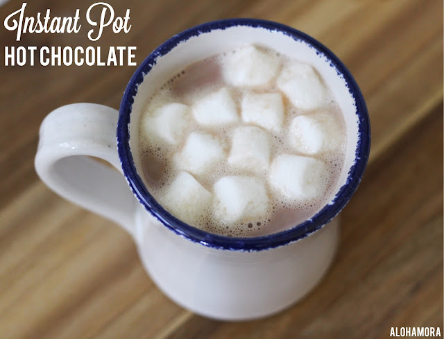 Instant Pot Hot Chocolate- gluten free, vegan, dairy free, paleo, easy to make and ready in 5 minutes. Simple, fast, quick, and delicious homemade hot chocolate drink. Alohamora Open a Book alohamoraopenabook http://alohamoraopenabook.blogspot.com/