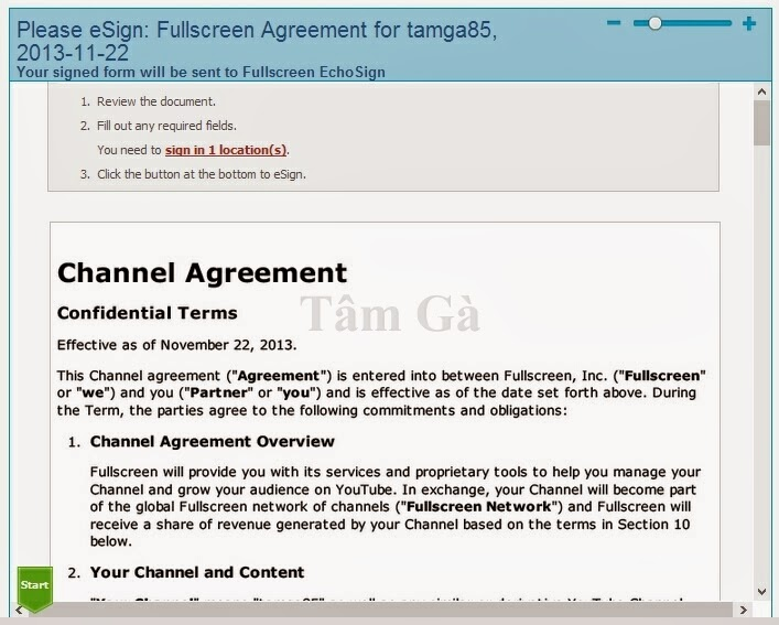 Fullscreen Agreement