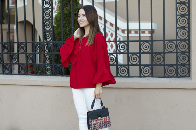 sammydress red blouse
